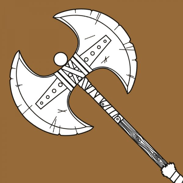 Astrid viking axe template