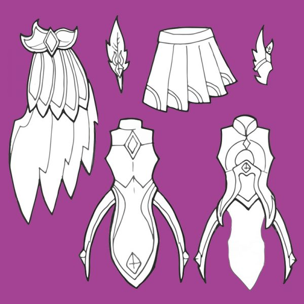 Starguardian Xayah patterns