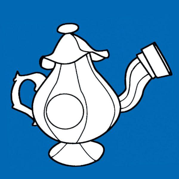 Teapot cannon prop pattern