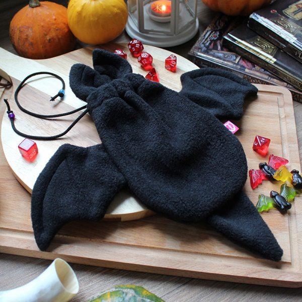 Black bat dicebag