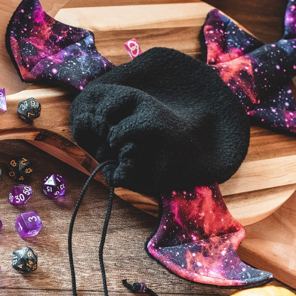 Black galaxy dragon dicebag