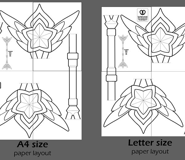 Starguardian Lux prop staff template