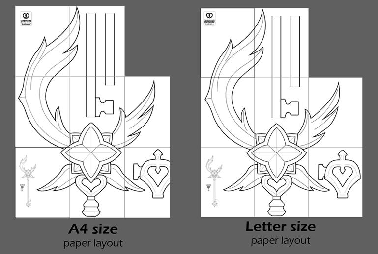Blueprint for Cosplay PDF to FOAM Staff LoL Star Guardian Soraka League of Legends