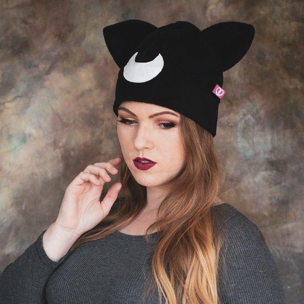 Moon cat beanie