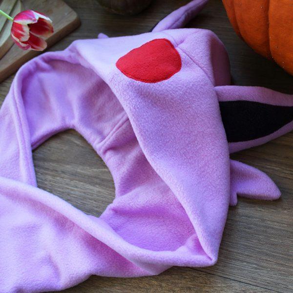 Espeon scarf hood