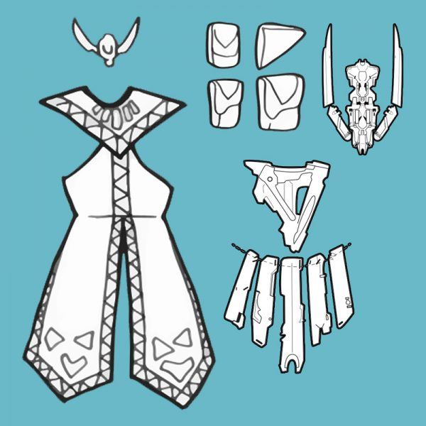 Aloy Banuk Ice Hunter cosplay blueprints