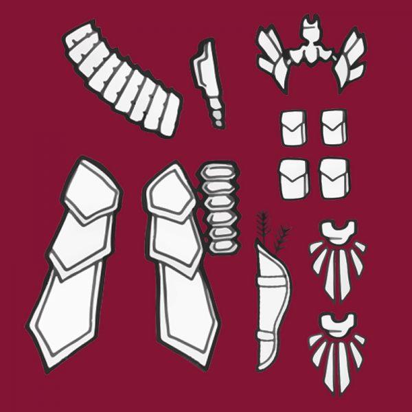 Aloy Carja Blazon Master cosplay blueprints