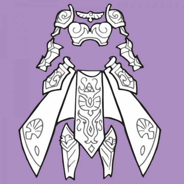 Zelda armor and skirt cosplay blueprints