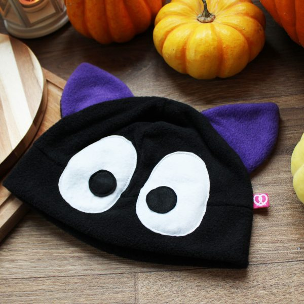 Kawaii black cat beanie
