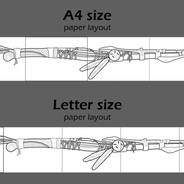 Aloy spear template