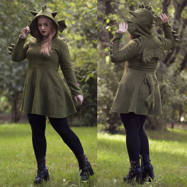Green dragon cosplay dress