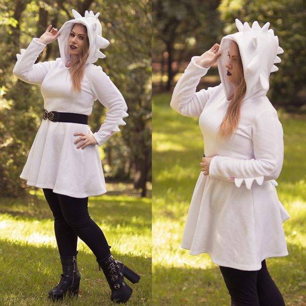 White dragon cosplay dress