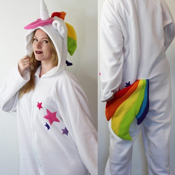 Rainbow unicorn cosplay onesie