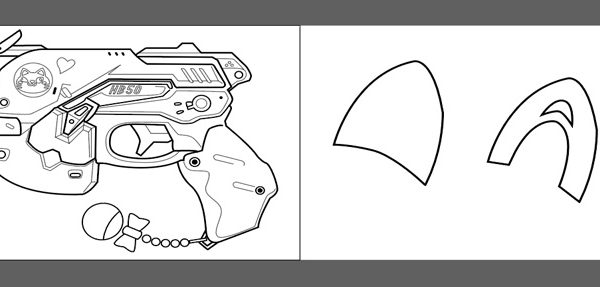 DVA gun and cat ears blueprints