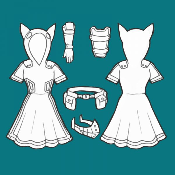 Female Deku cosplay pattern