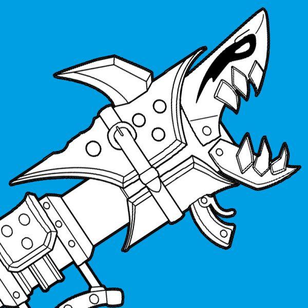 Fishbones shark bazooka blueprint