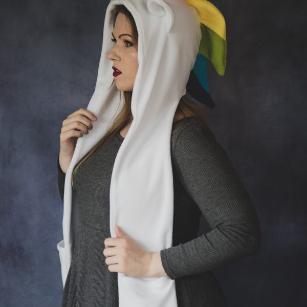 Cute Rainbow unicorn scarf hood