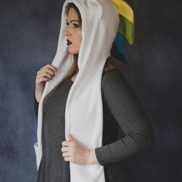 Cute Rainbow unicorn scarf hood