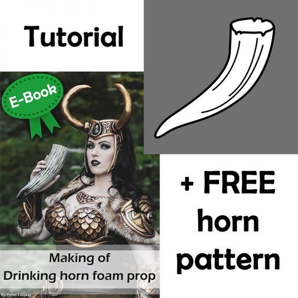 Foam drinking horn E-book AND pattern