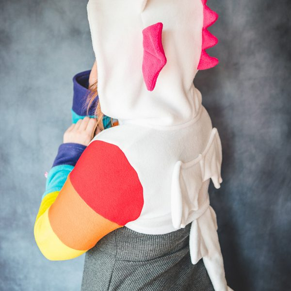 Rainbow dragon shrug with snap buckle