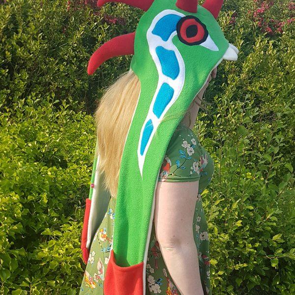 Frog dragon scarf hood