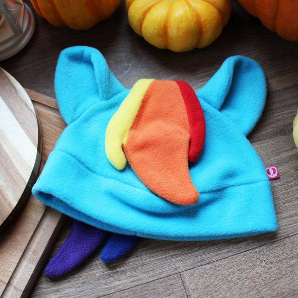 Cute rainbow pony beanie