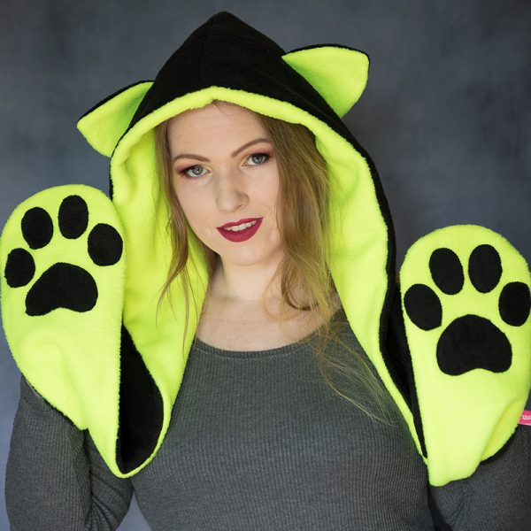 Cat scarf hood – many colour options!