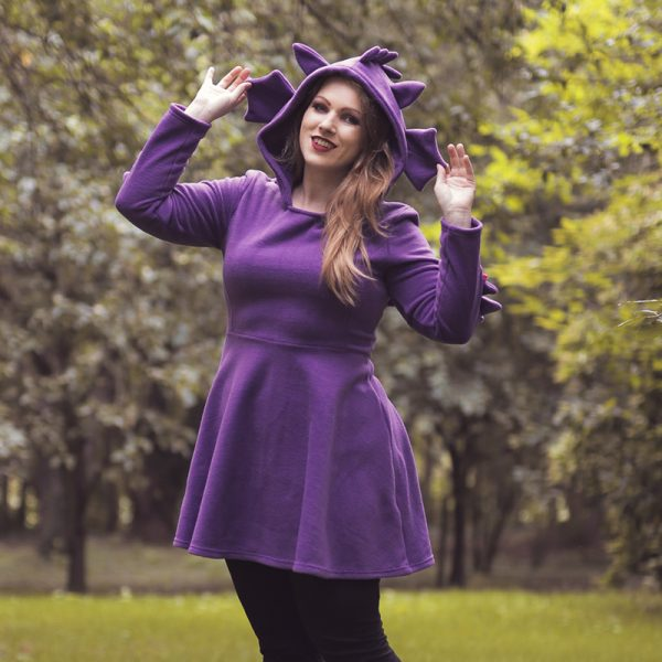 Purple dragon cosplay dress