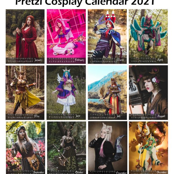 Pretzl Cosplay calendar 2021 – PRE ORDER