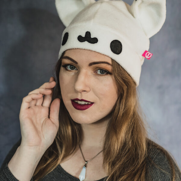 Kawaii snow fox beanie