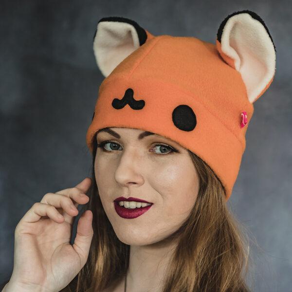 Kawaii fox beanie