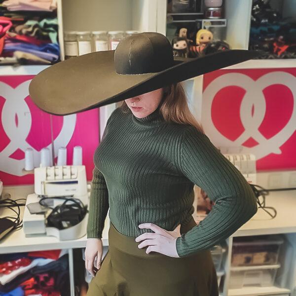 Big brim hat pattern – 3 brim sizes!