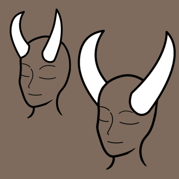 Demon horn pattern – 2 sizes!