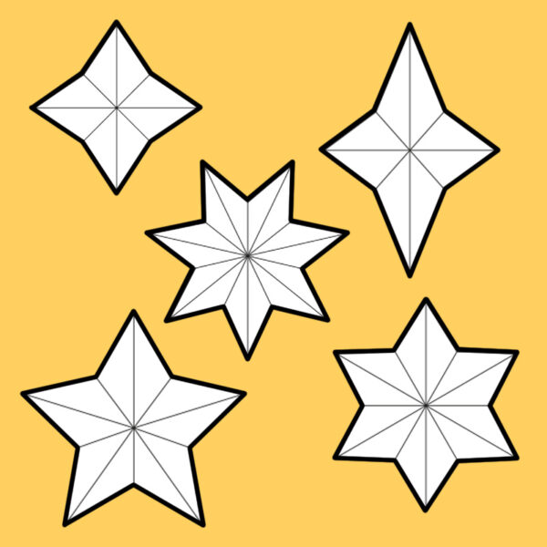 Foam stars pattern collection