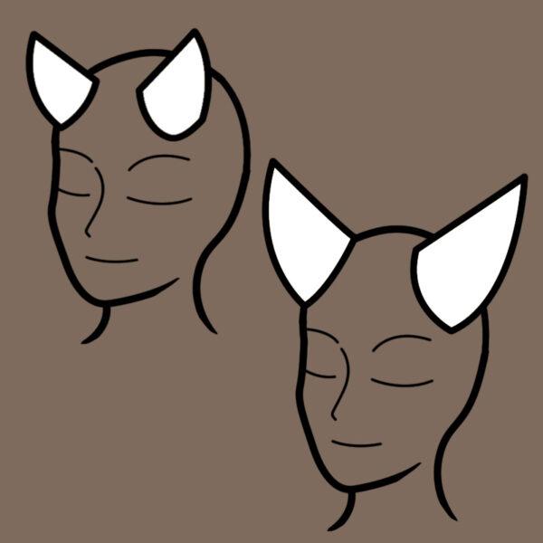 Imp horn pattern – 2 sizes!