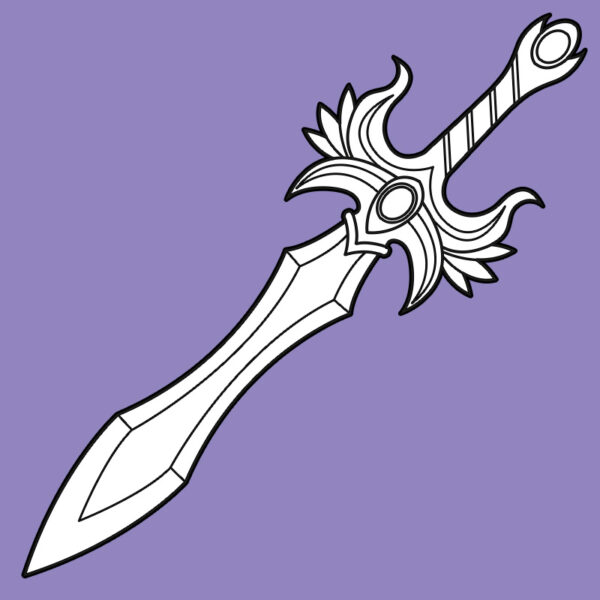 Fantasy sword prop template