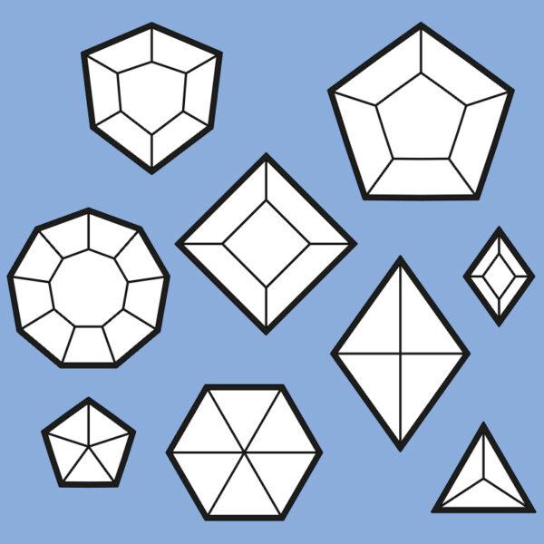 Foam gems pattern collection