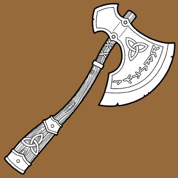 Viking axe foam crafting pattern