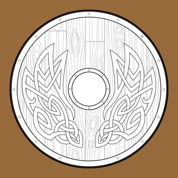 Viking shield foam crafting pattern