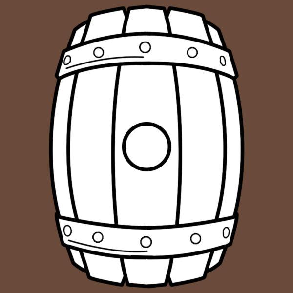 Beer keg (bag) foam crafting pattern