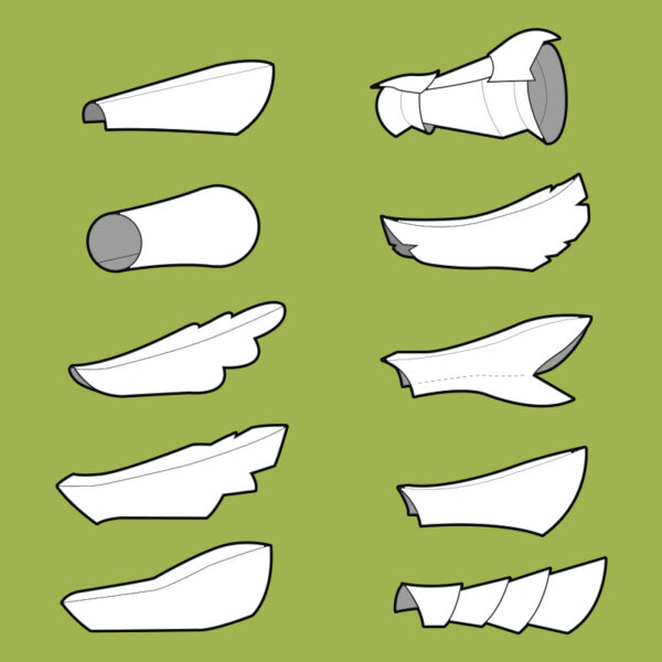 Arm armor (bracers) pattern collection – 10 patterns