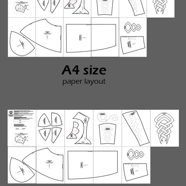 Viking Warrior armor cosplay crafting patterns